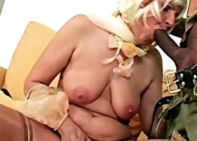 Ugly granny dildoing