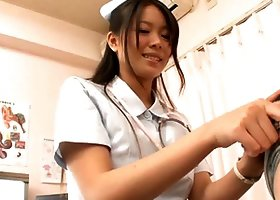Horny Asian Nurse Gets a Facial After Sex with Patient