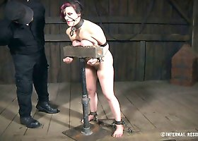 Restrained ginger bitch Iona Grace had super hard sex with her BDSM buddy