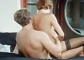 Rocco Siffredi Fucks Hairy Pussy and Ass of Hot Babe in Lingerie in Retro Porn