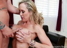 Cougar with hot big melons in hardcore sex action