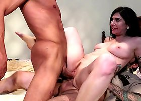 Joanna Angel gets double penetrate and loves every second of it