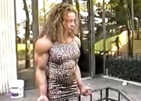 Bodybuilder in the park