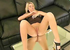 Alison Angel Fingers Her Pussy on Top of a Mirrored Table