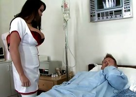 Big Breast Nurses brunette blowjob