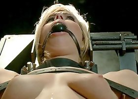 Blonde Chick Endures a Sexy Punishment With Pain and Pleasure