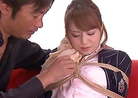 Pretty Japanese Akiho Yoshizawa Fingered While Tied and Fucked