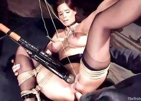 Syren Gets Both Holes Pleasured With A Side Of Pain