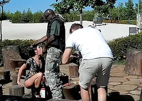 horny bitches in police and military uniform get fucked
