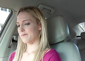 Teen hitchhiker fucked in the car in exchange for a ride