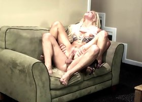 Jenna Lovely in a huge dick ride and naughty blowjob action