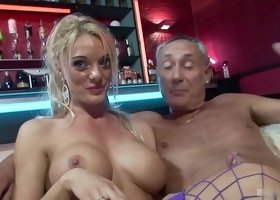 Antonia Deona dances for an elderly man before a sex game
