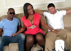 Stunning Layla Monroe fucks White and Black dudes