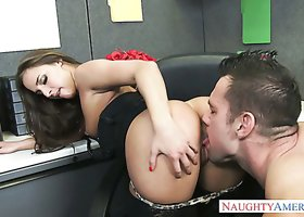 Alluring minx Amirah Adara in office fuck with Johnny Castle