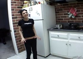 Sexy Joanna Angel gets naked and makes herself lunch