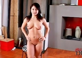 Busty cutie Lea Lexis is penetrating her vagina