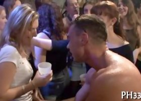 Tons of group sex on dance floor blow jobs from blondes wild fuck