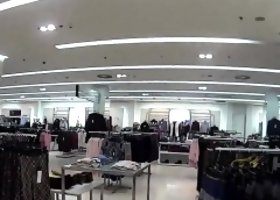 Charming czech teenie gets seduced in the shopping centre an