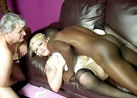 White MILF Cuckolds Her Husband While Hardcore Fucking a Black Guy
