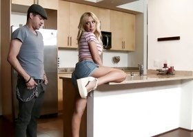Capri Cavanni got fucked in the kitchen
