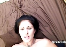 Cute coed Charli Baker fucks and gets a creampie