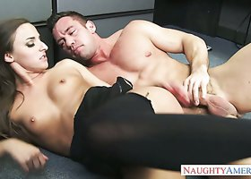 Stunning brunette chiock Amirah Adara fucks Johnny Castle in the office
