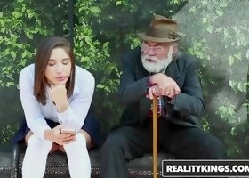 RealityKings - Teens Love Huge Cocks - Abella Danger Bill Bailey - Bus Bench Creepin
