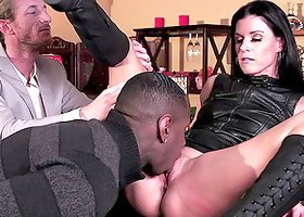 India Summer goes black as her cuckold husband watches