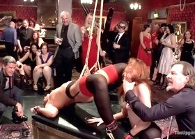 Maestro & Savannah Fox & Amarna Miller in Two Slutty Slaves Service Cock - TheUpperFloor
