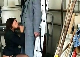 Anna Polina The hot director with high heels nylon stockings