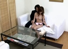 Sexy japanese broad goes at the clinic and gets to climax