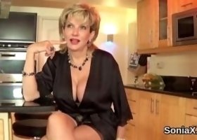 Cheating english milf lady sonia presents her oversized tits