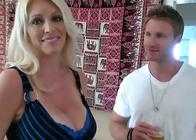 Charlee Chase the big tittied MILF gets nailed by younger partner