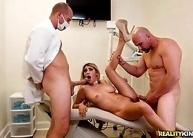 Horny Dentist Doctors Gangbang Busty Young Lady In Hospital