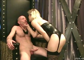 Sensual blonde hoe Ash Hollywood gets her soaking yoni banged well