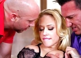 Blonde Bitch Enjoys Two Cocks @ Dp My Wife With Me #05
