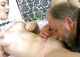 Old lover fucks youthful fur pie