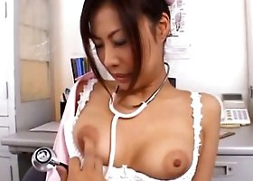 New hospital nurse examined by doctor with boner and fucked