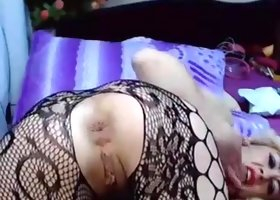 Camgirl  anal freak gaping and farting pt 2
