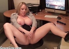 Big Titty Maggie Green is The New Office Slut!