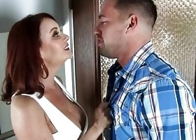 Busty horny MILF Janet Mason fucks her son's friend - Naughty America