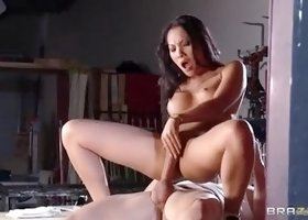 Supreme buxomy asian Asa Akira acting in amazing facial performance