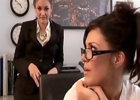 Allie Haze knew that gorgeous brunette just needed a good hard fuck
