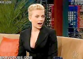 Scarlett Johansson's Incredibly Hot Cleavage At Jay Leno's Show