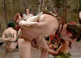 Femdom Fuck Fest with Guys Getting Strapon Fucked and Humiliated