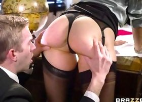 Busty Blonde Seduces Her Boss