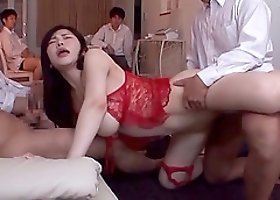Sexy Anri Okita hairy pussy pleasured using toy then smashed hardcore