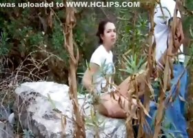 Horny Homemade video with Couple, Outdoor scenes